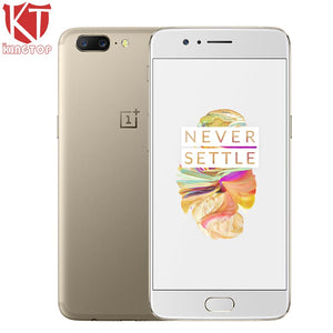 "Original OnePlus 5 4G LTE Mobile Phone 5.5"" 6GB 64GB Snapdragon 835 Octa Core 3 Camera Android 7.0 20MP 3300mAh NFC Fingerprit"