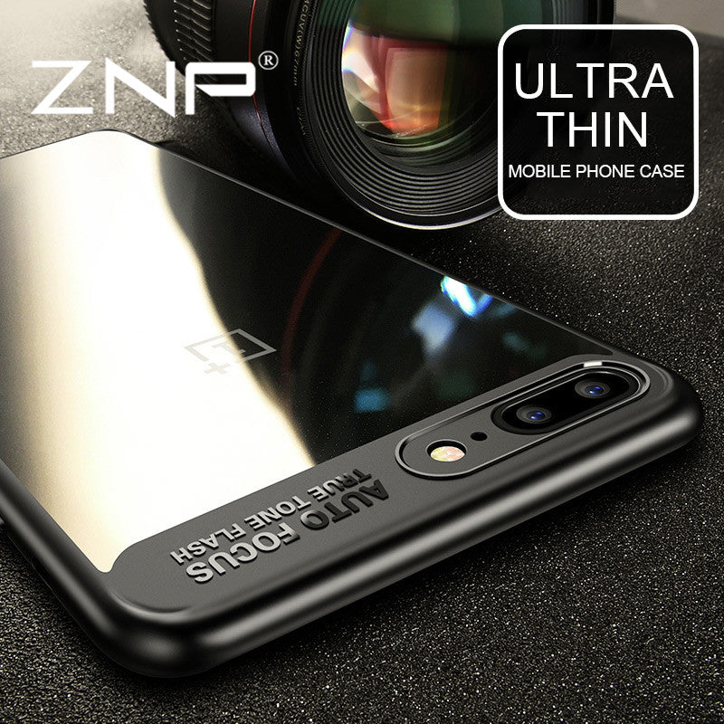 ZNP Silicone Phone Cases for For One Plus 5 OnePlus 5 Case Transparent PC & TPU Slim Cases For One Plus 5 Plus5 Cover Case Coque