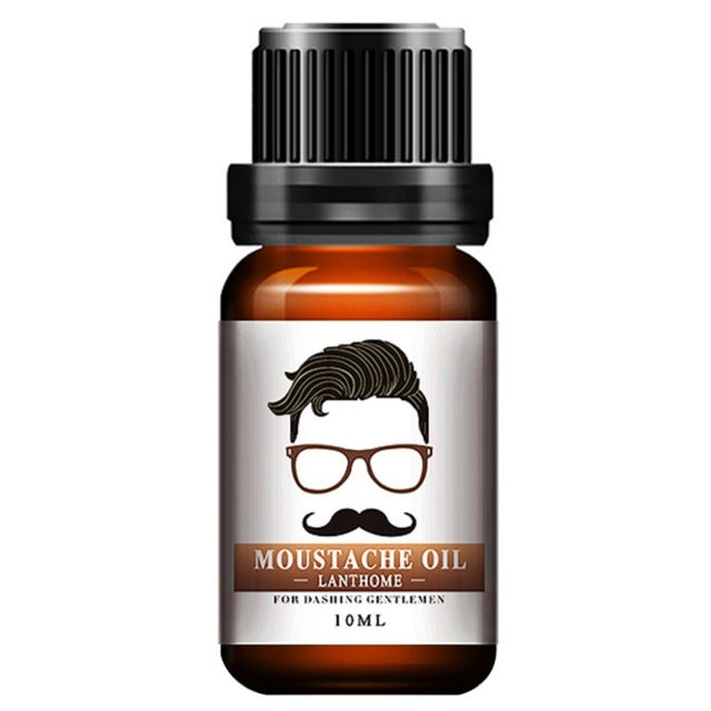 Hot Sell 100% Natural Men Beard Oil for Styling Beeswax Moisturizing Smoothing Gentlemen Beard Care Conditioner 10ml