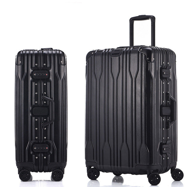 20'24'26'28' Aluminum Frame Spinner luggage Carry-on cabin TSA Scratch Resistant Travel trolley Rolling luggage suitcase wheels