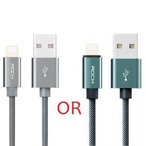 ROCK for iPhone Cable 100CM 180CM 300CM 20CM 2.1A Fast Charger Lighting USB Cables Charging Cord For iPhone 10 8 7 6 5 Plus iPad
