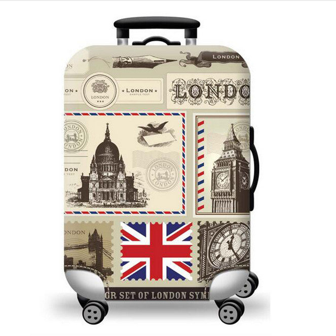Luggage Cover Suitcase Protector Colorful Washable Travel Luggage Suitcase Cover