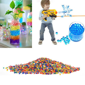 10000/packet colored orbeez soft crystal water paintball gun bullet grow water beads grow balls water gun toys