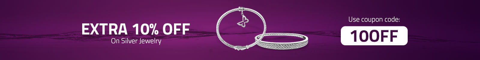 10% Off on all Silver Jewelry