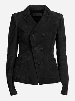 Women's Black Nubuck Leather Jacket