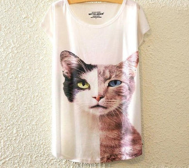 Limited Edition White Cat Shirt