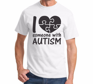 I Love Someone With Autism T-Shirt