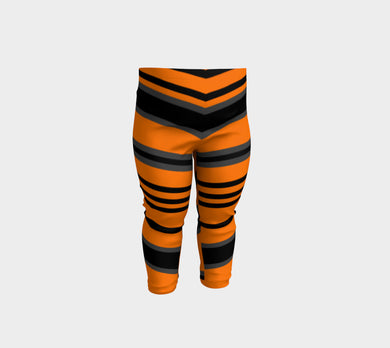 Orange Black - Baby / Youth Leggings