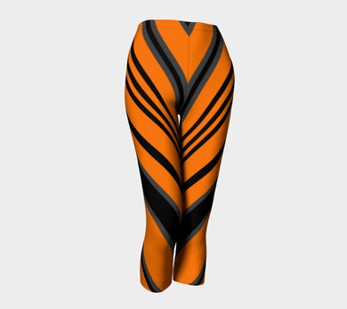 Orange Black Capris by Jump In Trend - front view
