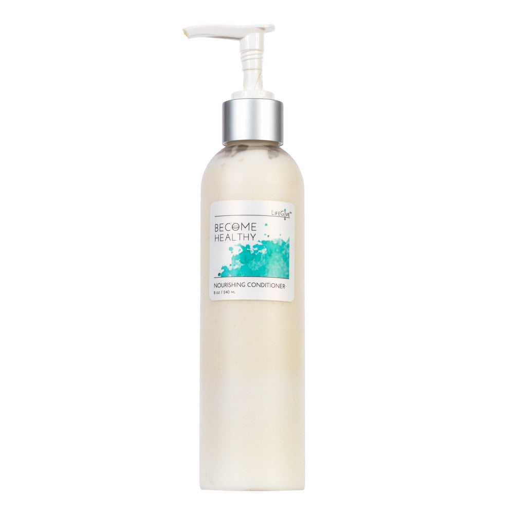 BECOME HEALTHY - Nourishing Conditioner restores elasticity to hair and moisture to scalp.