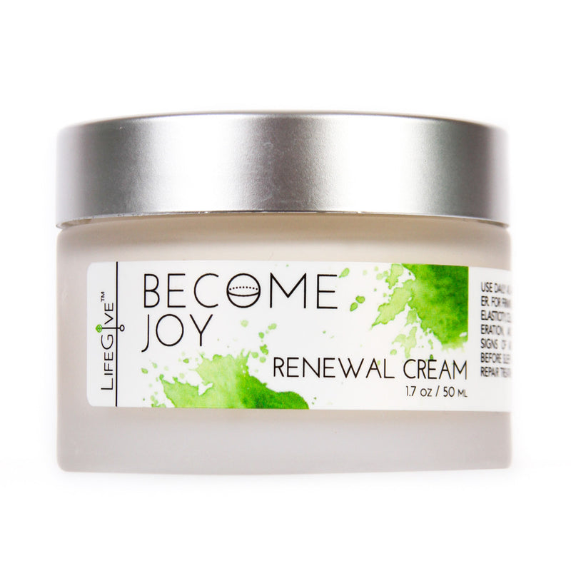BECOME JOY – Renewal Cream for firming, increased elasticity, cellular regeneration, and reduced signs of aging, apply before sleep as a night repair treatment.