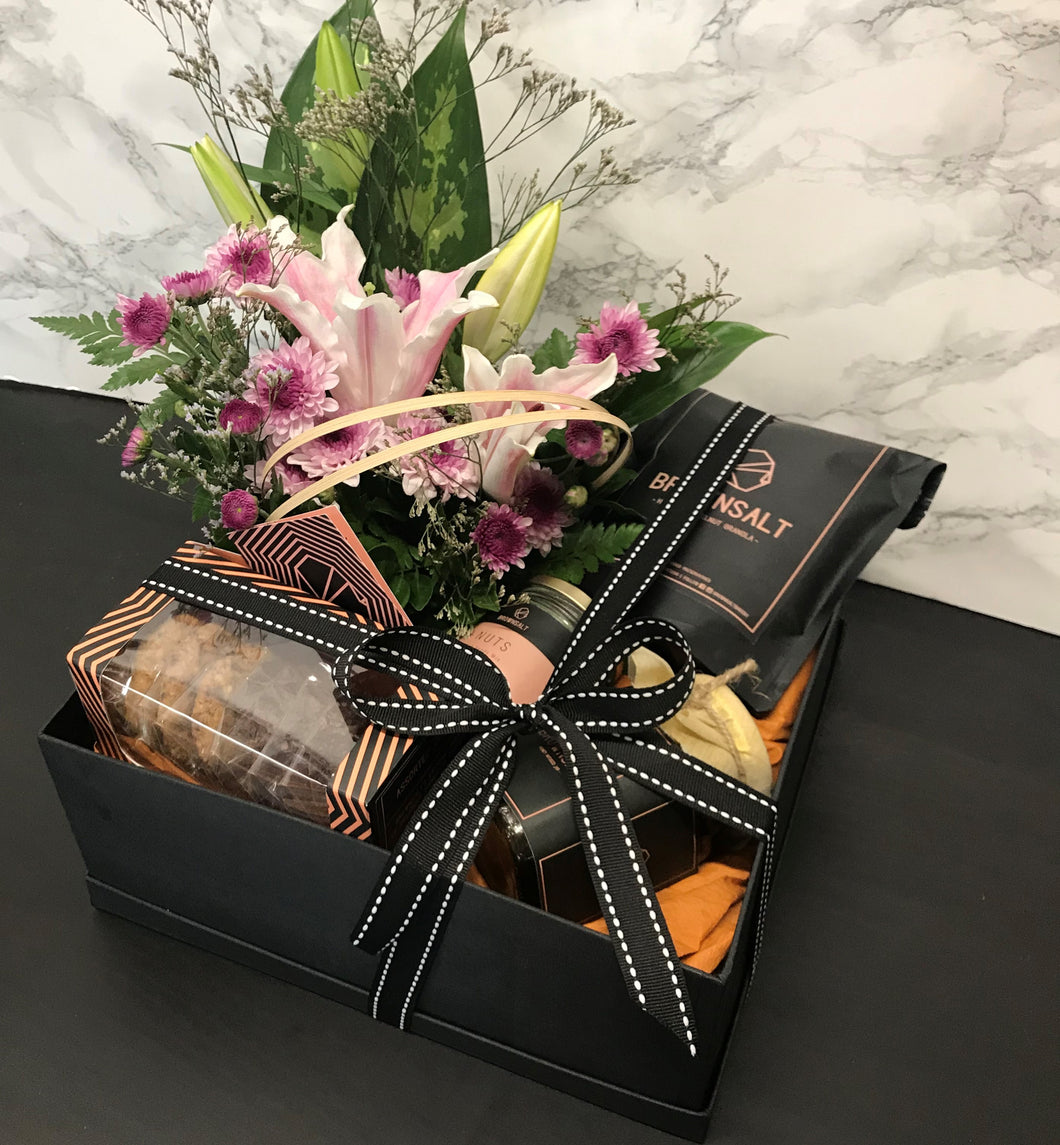 Brownsalt Floral Hamper - Brownsalt Bakery