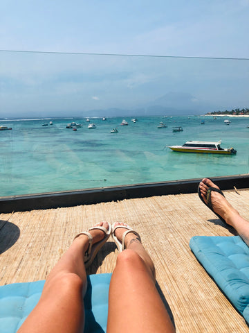Making the most of 3 weeks Island hopping in Indonesia - nusa lembongan restaurant view