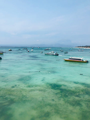 Making the most of 3 weeks Island hopping in Indonesia - Nusa lembongan sea