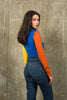 Colour Block Roll Neck
