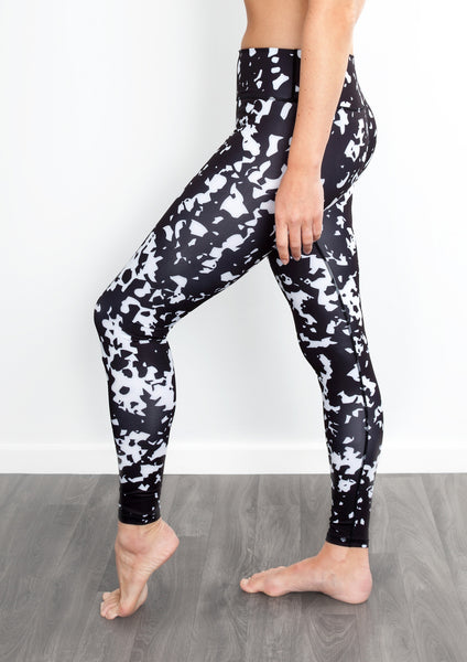 Mono black and white yoga pants