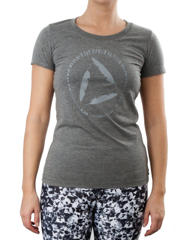 Womens T'shirt with Viny Print - Grey