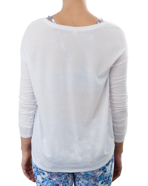 Oversized T'Shirt with Skinny Rib Arms