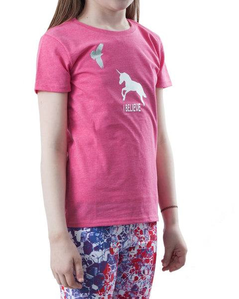 Kids T-shirt PINK MARL