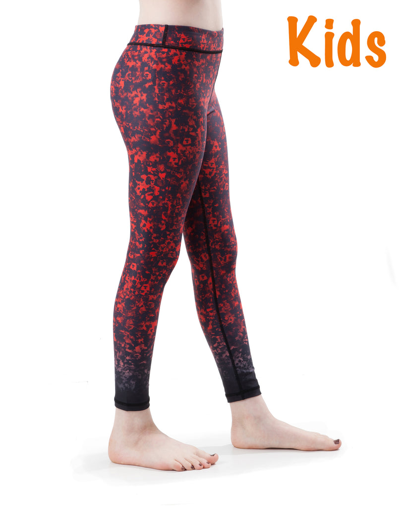 Kids Poppy Red Yoga Pants