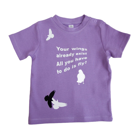Baby T shirt: Your Wings - LAVENDER