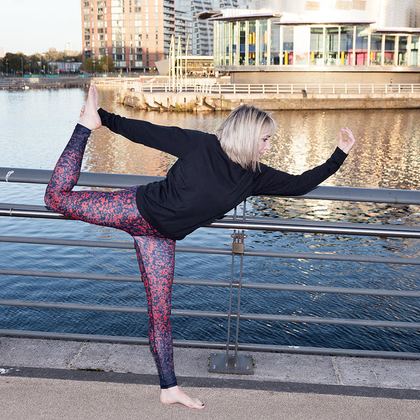 Poppy red premium luxe yoga pants