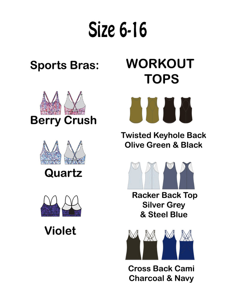 Workout Tops and Sports Bras SIZE 6+ SEE WOMENS