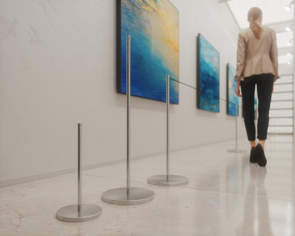 Stanchions For Social Distancing In Shops & Public Spaces