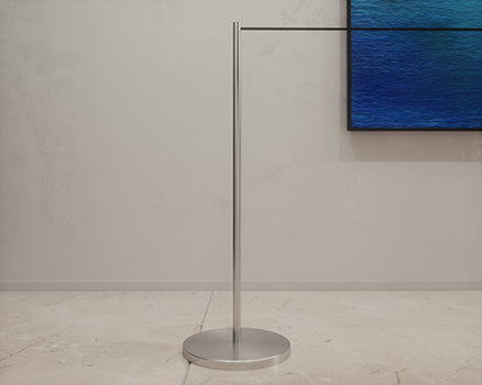 stanchion in art gallery
