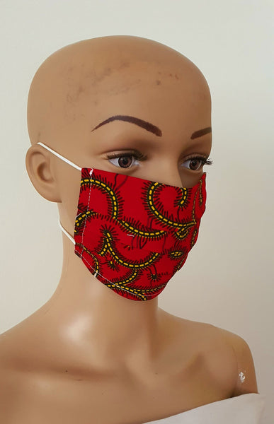 African Print Face Mask | Ankara Fabric Print Face Masks - ATMKollectionz