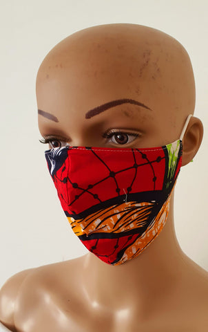 African Print Face Mask | Ankara Fabric Print Face Masks - Nkem - ATMKollectionz