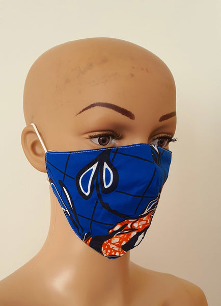 African Print Face Mask | Ankara Fabric Print Face Masks - Folle - ATMKollectionz