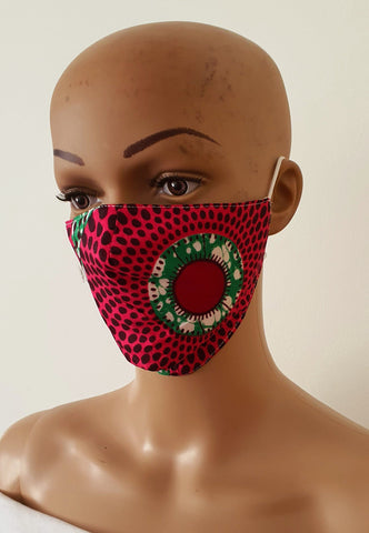 African Print Face Mask | Ankara Fabric Print Face Masks - Chimma - ATMKollectionz