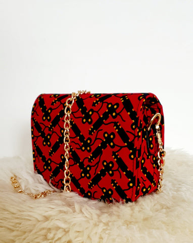 African Print Shoulder Bag Crossbody Ankara Print Bag - Bisola - African Clothing from CUMO LONDON