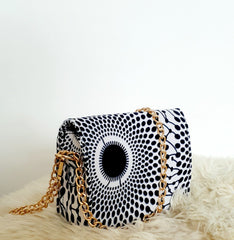 African Print Shoulder Bag Crossbody Ankara Print Bag - Leila - African Clothing from CUMO LONDON