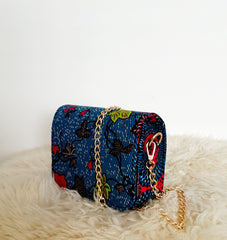 African Print Shoulder Bag Crossbody Ankara Print Bag - Titi - African Clothing from CUMO LONDON