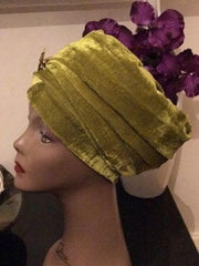 Double Velvet Turban head wrap various colours (red, white, blue, green, black) - African Clothing from CUMO LONDON