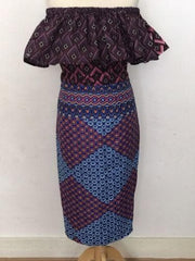 New African fabric Ankara Summer Dress In UK 10 12, 14 And 16 Styled Differently - African Clothing from CUMO LONDON