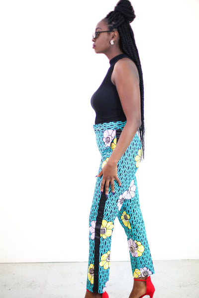 African Print Ankara Pallazo Trousers - African Clothing from CUMO LONDON