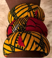 3pcs Ankara print Bangles (in Variable colours) - ATMKollectionz