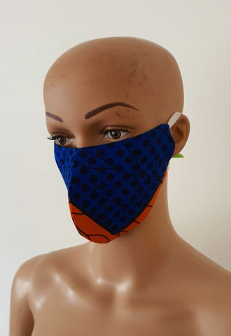 African Print Face Mask | Ankara Fabric Print Face Masks - Kemy - ATMKollectionz