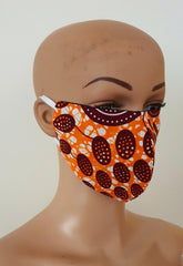 African Print Face Mask | Ankara Fabric Print Face Masks - Olla - ATMKollectionz