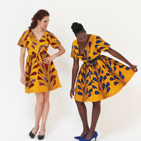 African Print Ankara women Tea Dress - African Clothing from CUMO LONDON