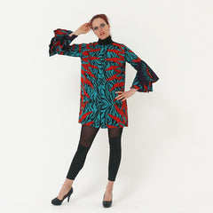 African Ankara Print Zip Dress Jacket - African Clothing from CUMO LONDON