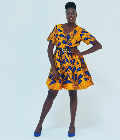 African Print Ankara women Tea Dress