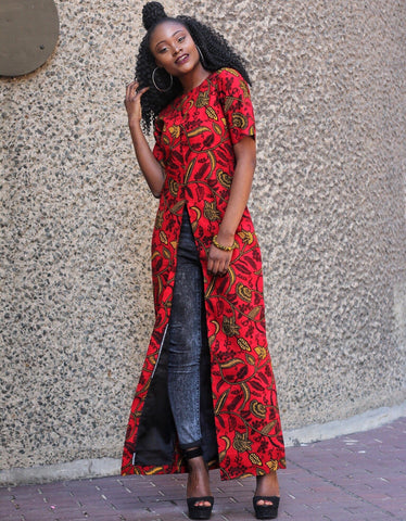African Print Ankara Long Top - Plus size
