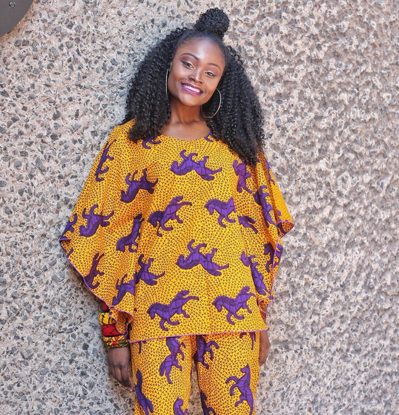 Ready to Wear African Print Ankara Top for Women - African Clothing from CUMO LONDON