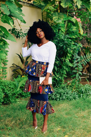 New in African Print Ankara 3 Tier Skirts - ATMKollectionz
