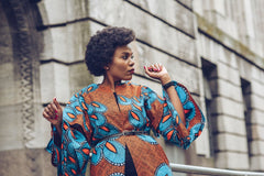 CELINE African Ankara Print Midi Jacket - African Clothing from CUMO LONDON