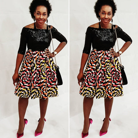 African Print Ankara Sequin Dress